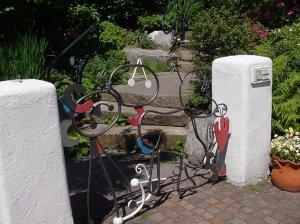 modernes Schmiedeeisen Garten Tor